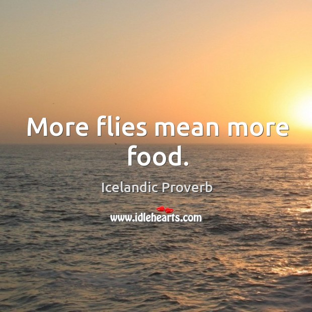 More flies mean more food. Icelandic Proverbs Image