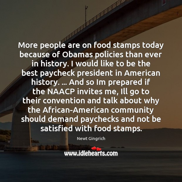 Image, More people are on food stamps today because of Obamas policies than
