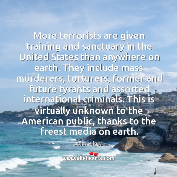 Image, More terrorists are given training and sanctuary in the United States than