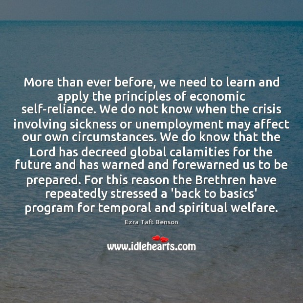 Image, More than ever before, we need to learn and apply the principles