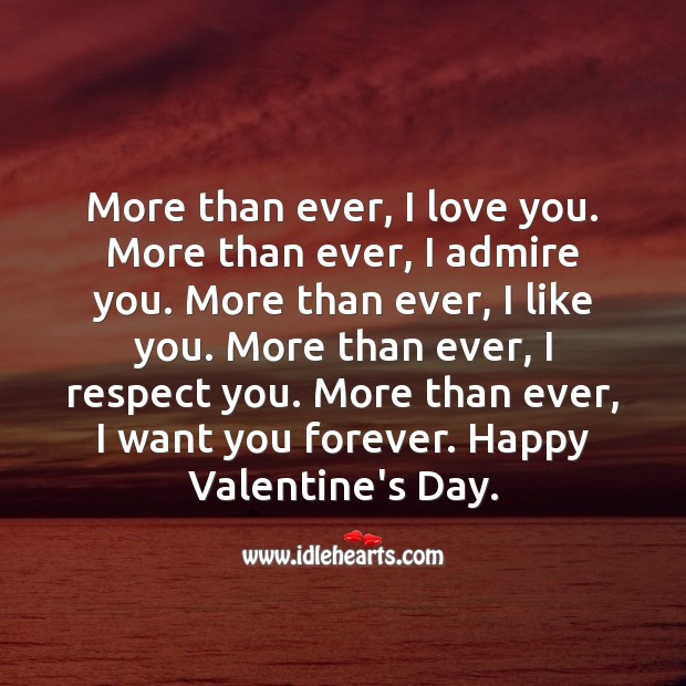 More than ever, I want you forever. Respect Quotes Image