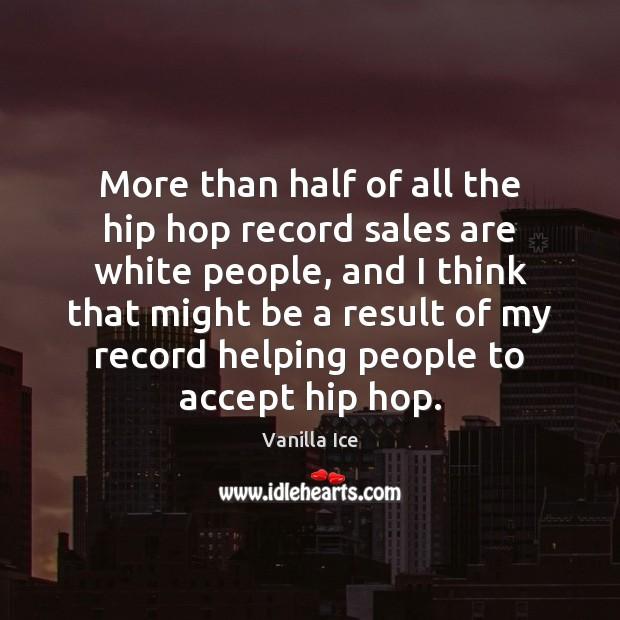Image, More than half of all the hip hop record sales are white