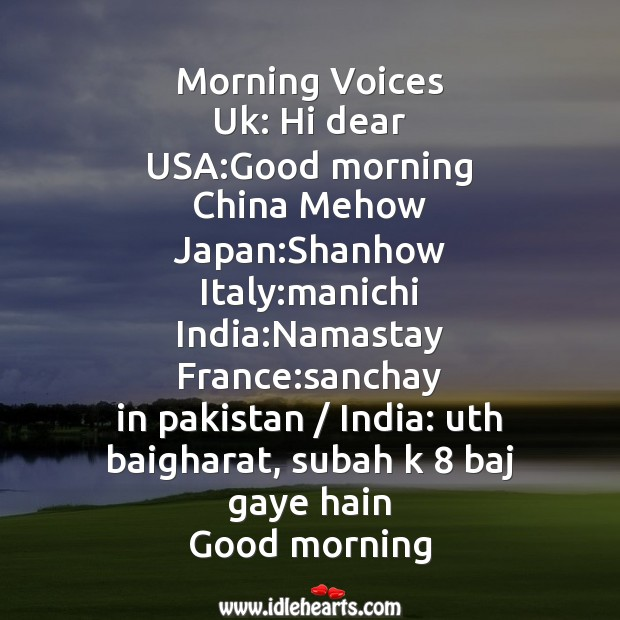Morning voices Image