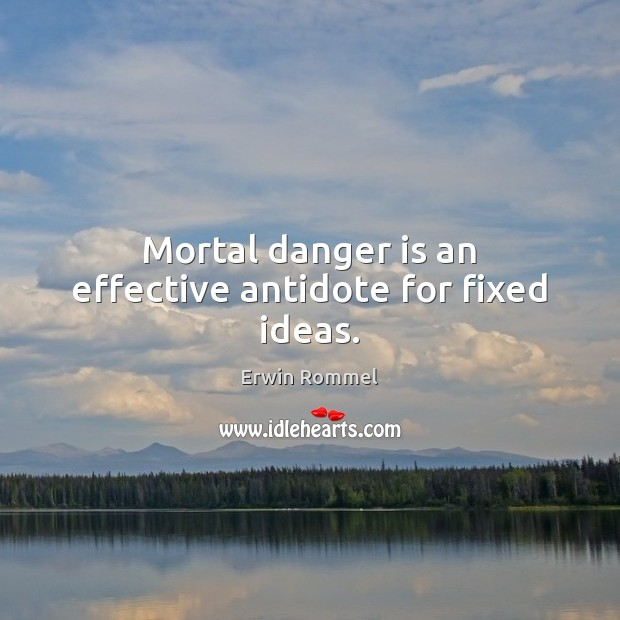 Mortal danger is an effective antidote for fixed ideas. Image