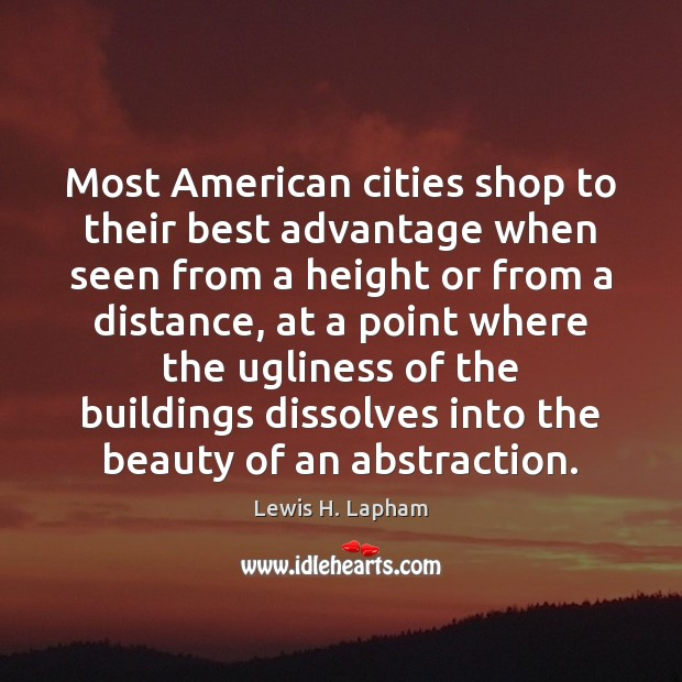 Image, Most American cities shop to their best advantage when seen from a