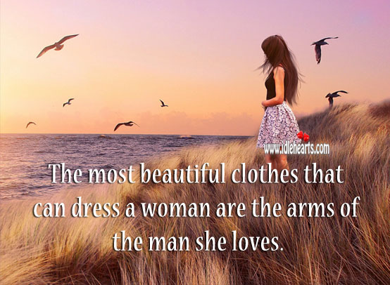 Image, The most beautiful clothes that can dress a woman.