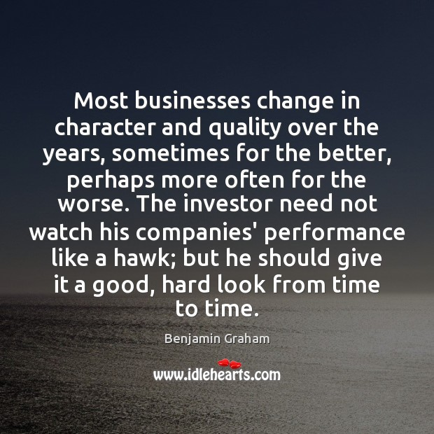 Image, Most businesses change in character and quality over the years, sometimes for