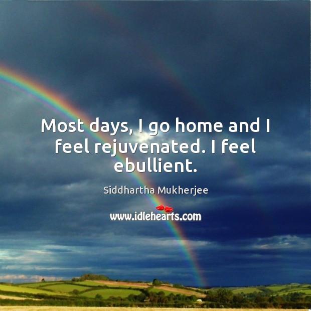 Most days, I go home and I feel rejuvenated. I feel ebullient. Image
