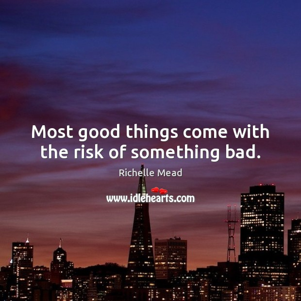 Image, Most good things come with the risk of something bad.
