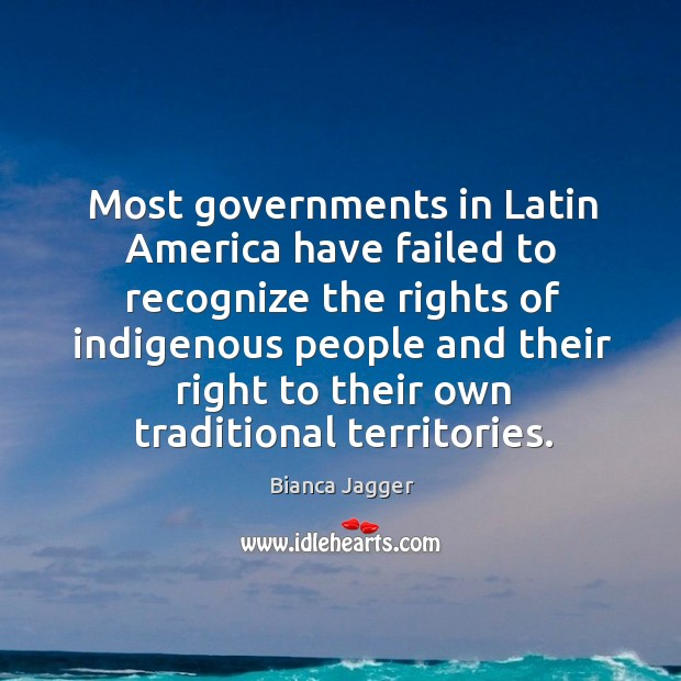 Most governments in latin america have failed to recognize Image