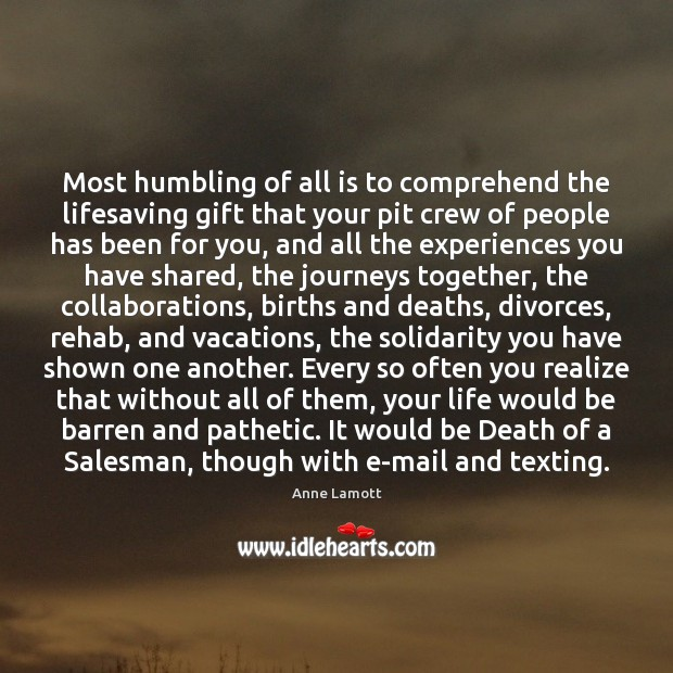 Most humbling of all is to comprehend the lifesaving gift that your Image