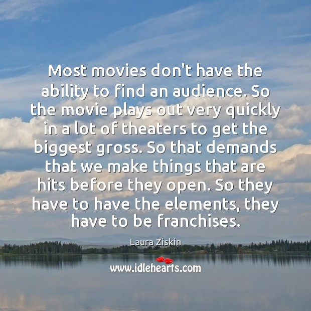 Most movies don't have the ability to find an audience. So the Image