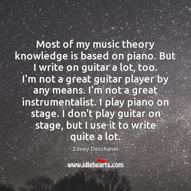 Most of my music theory knowledge is based on piano. But I Knowledge Quotes Image