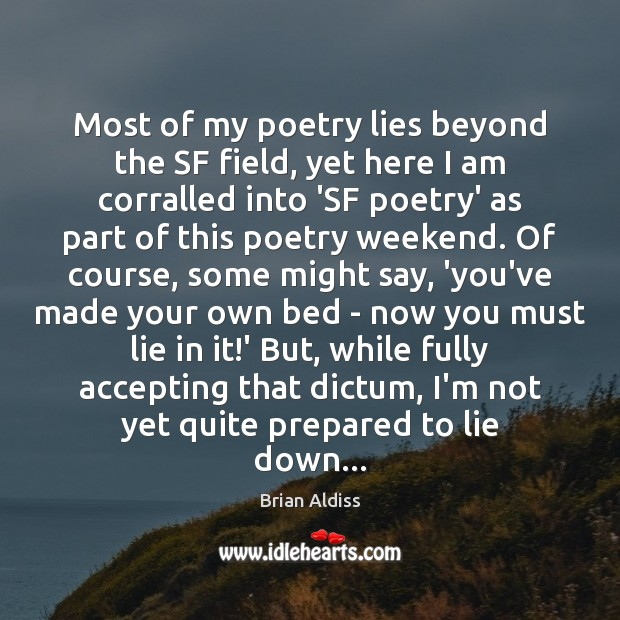 Most of my poetry lies beyond the SF field, yet here I Image