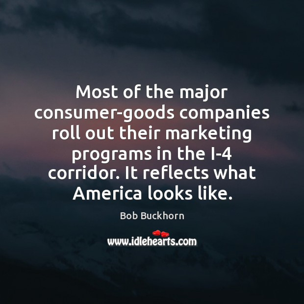 Image, Most of the major consumer-goods companies roll out their marketing programs in