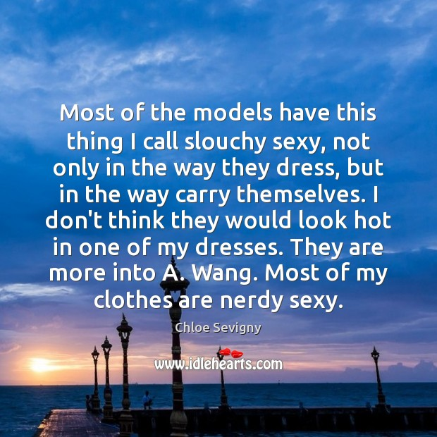 Most of the models have this thing I call slouchy sexy, not Chloe Sevigny Picture Quote