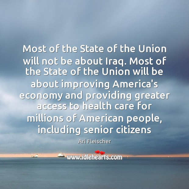 Image, Most of the State of the Union will not be about Iraq.