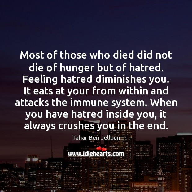 Most of those who died did not die of hunger but of Image