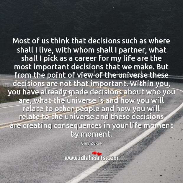 Most of us think that decisions such as where shall I live, Image