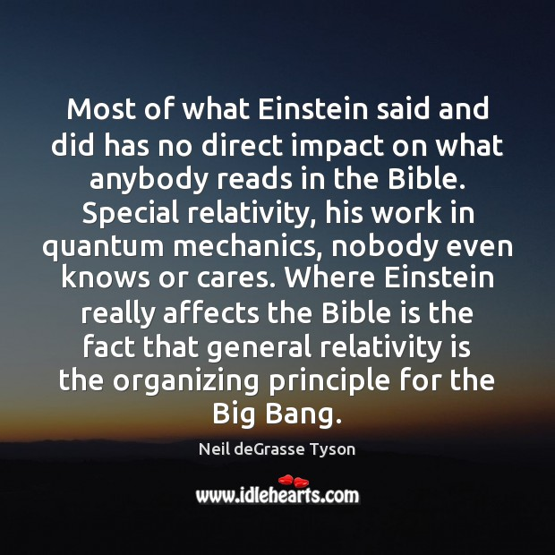 Most of what Einstein said and did has no direct impact on Image