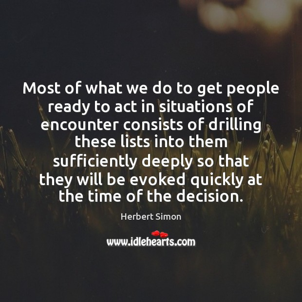 Most of what we do to get people ready to act in Image