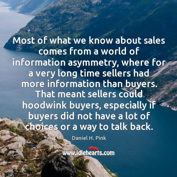 Image, Most of what we know about sales comes from a world of