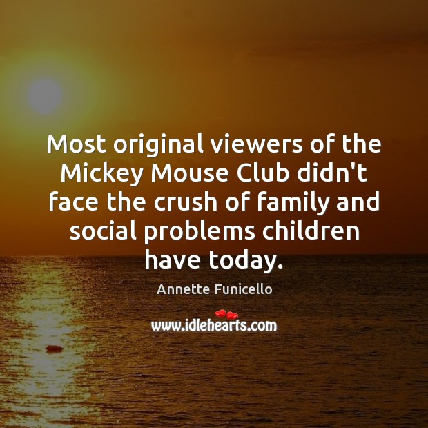 Most original viewers of the Mickey Mouse Club didn't face the crush Image