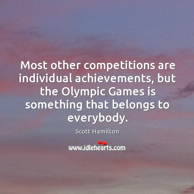 Most other competitions are individual achievements Image