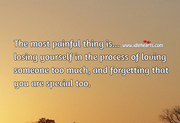 Image, The most painful thing is losing yourself
