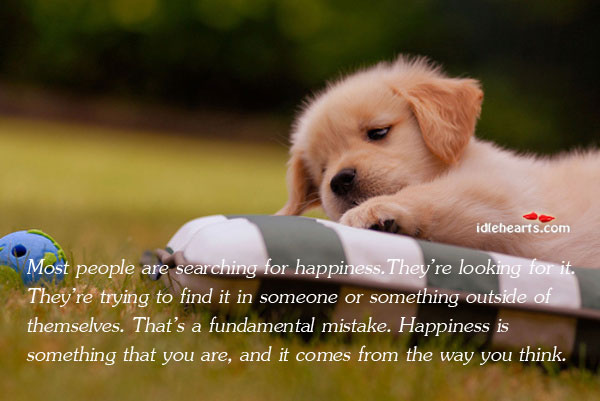 Most People Are Searching For Happiness.They're Looking For…