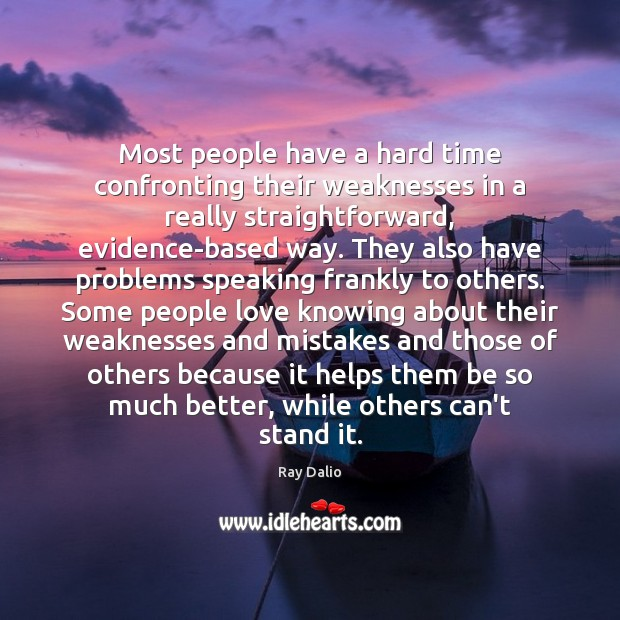 Image, Most people have a hard time confronting their weaknesses in a really