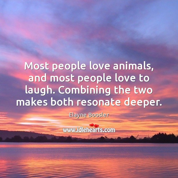 Image, Most people love animals, and most people love to laugh. Combining the