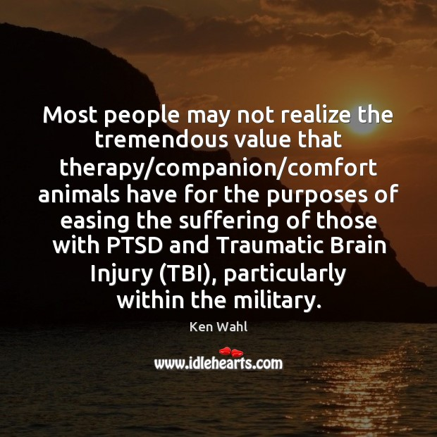 Most people may not realize the tremendous value that therapy/companion/comfort Image