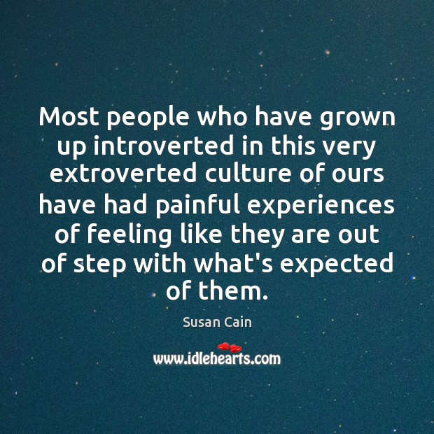 Most people who have grown up introverted in this very extroverted culture Image