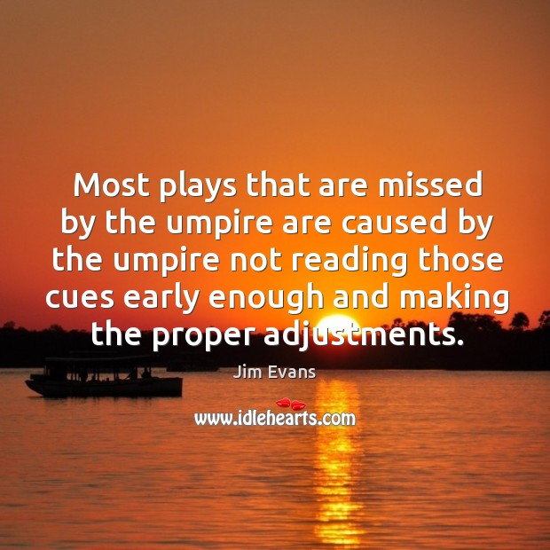 Image, Most plays that are missed by the umpire are caused by the umpire