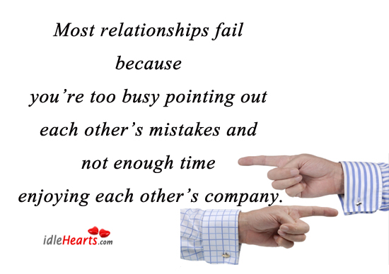 Image, Most relationships fail because