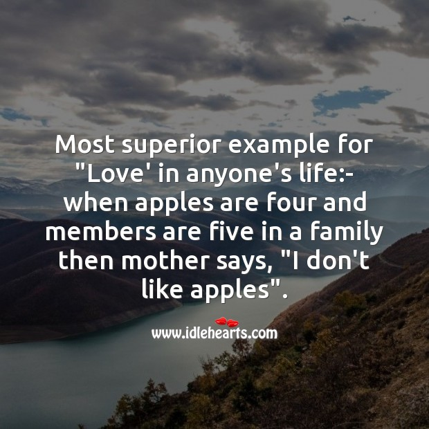 "Most superior example for ""love' in anyone's life Mother's Day Messages Image"