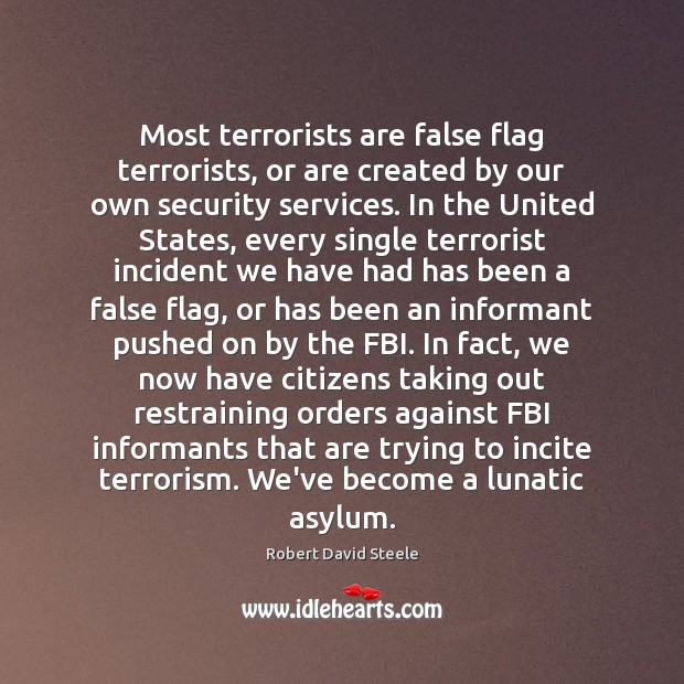 Image, Most terrorists are false flag terrorists, or are created by our own