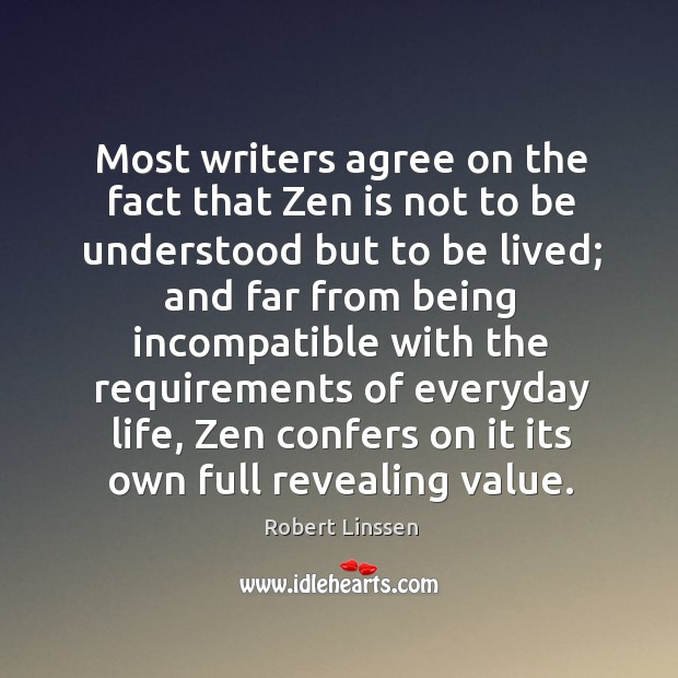 Most writers agree on the fact that Zen is not to be Image