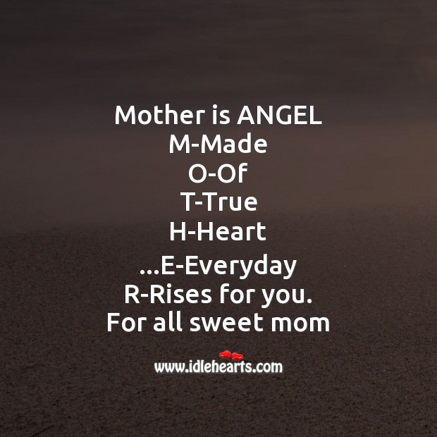Mother is angel Mother's Day Messages Image
