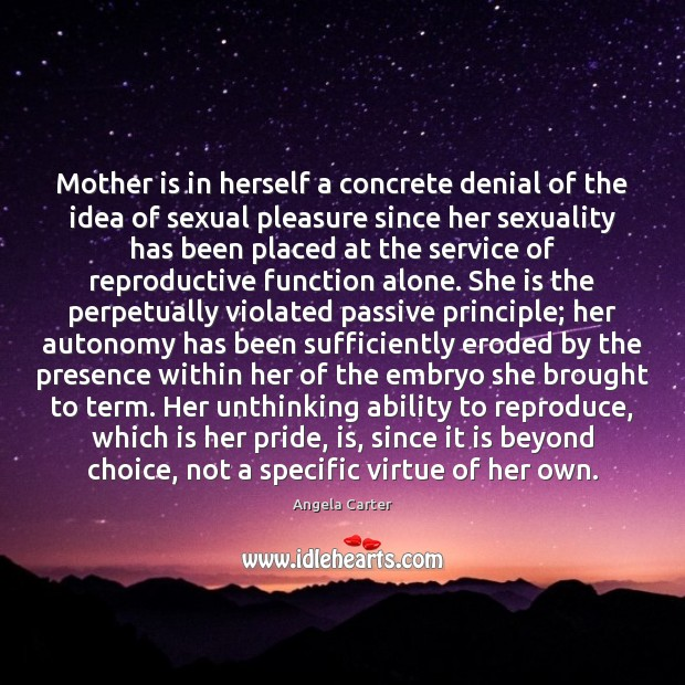 Image, Mother is in herself a concrete denial of the idea of sexual