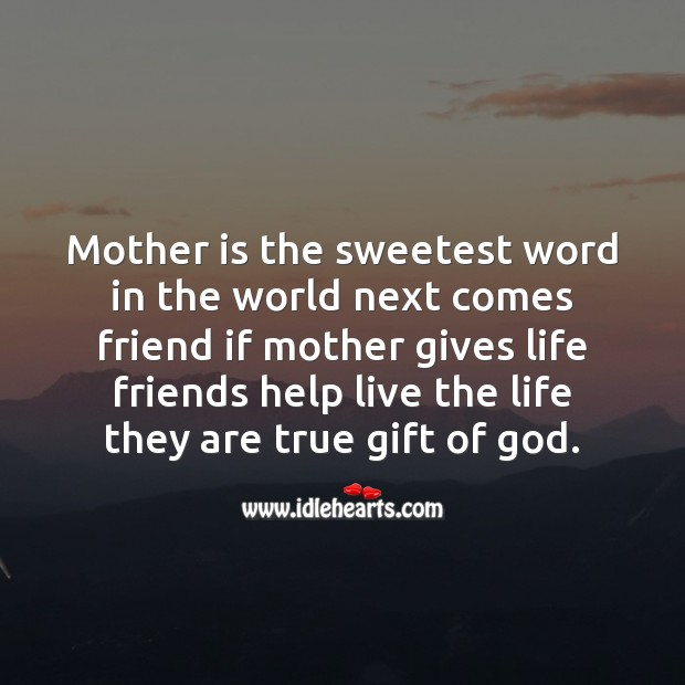 Image, Mother is the sweetest word in the world