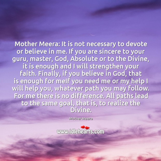 Picture Quote by Mother Meera