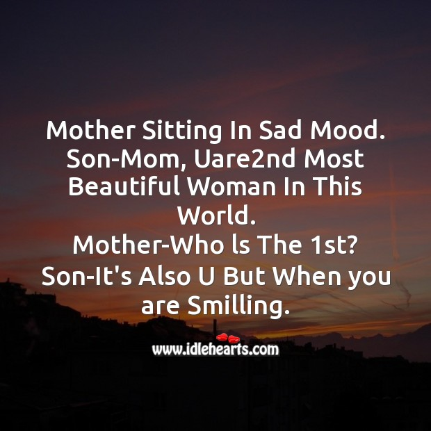 Mother sitting in sad mood. Mother's Day Messages Image