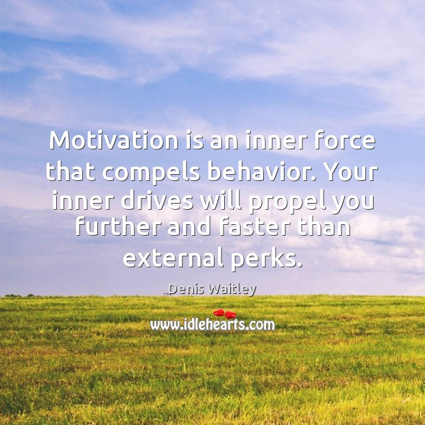 Image, Motivation is an inner force that compels behavior. Your inner drives will