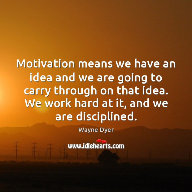 Image, Motivation means we have an idea and we are going to carry