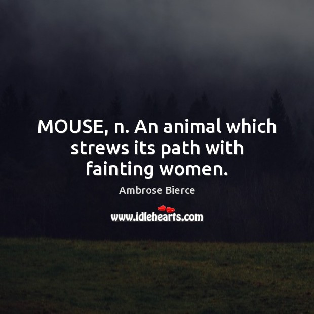 Image, MOUSE, n. An animal which strews its path with fainting women.