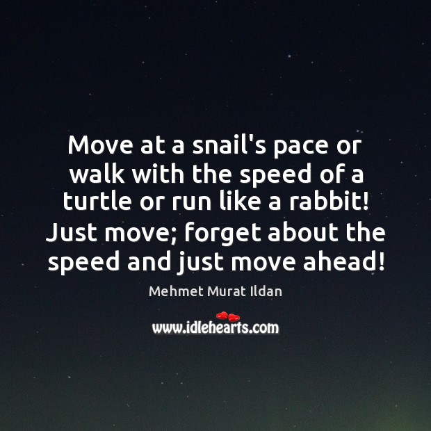 Move at a snail's pace or walk with the speed of a Image