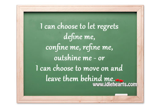 Move On And Leave Them Behind