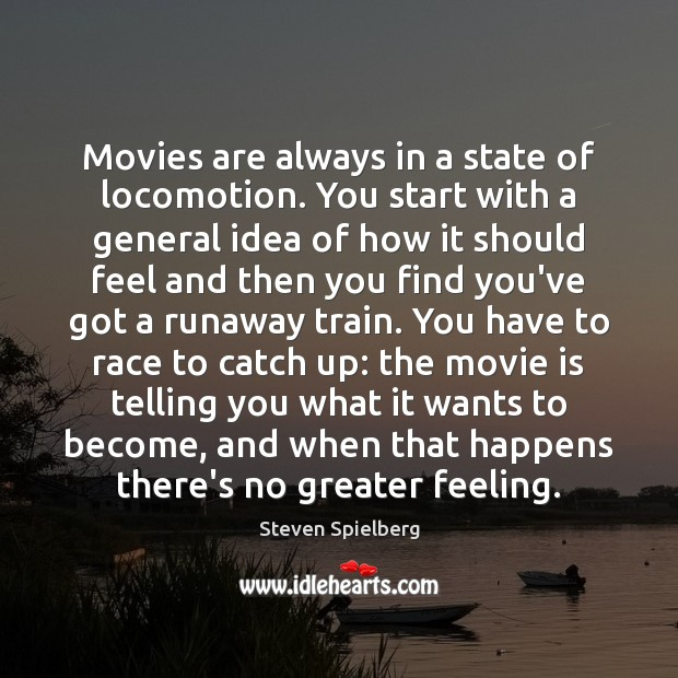 Movies are always in a state of locomotion. You start with a Image